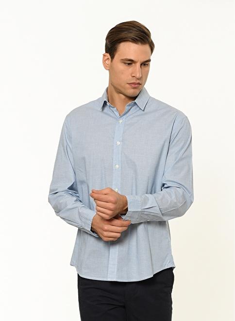 Dockers Uzun Kollu Gömlek Mavi